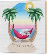 Kiniart Tropical Bichon Frise Wood Print