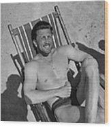 Kirk Douglas In 1950s Wood Print