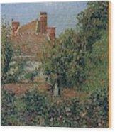 Kitchen Garden In Eragny, Afternoon, 1901 Wood Print