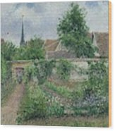 Kitchen Garden, Overcast Morning, Eragny, 1891  Wood Print
