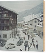 Klosters Wood Print