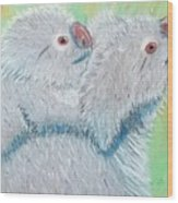 Koala With Baby - Pastel Wildlife Painting Wood Print