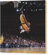 Kobe Bryant Action Portrait Wood Print