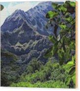 Ko'olau Peak Wood Print