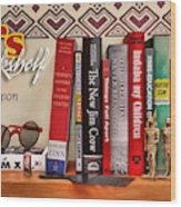 Kuji's Bookshelf Wood Print