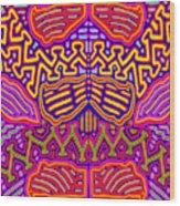 Kuna Butterfly Wood Print
