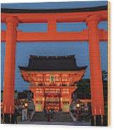 Kyoto Torii Gate Wood Print
