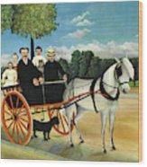 La Carriole Du Pere Junier - Digital Remastered Edition Wood Print