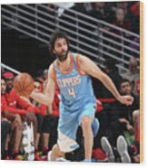 La Clippers V Chicago Bulls Wood Print