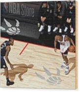 La Clippers V Toronto Raptors Wood Print