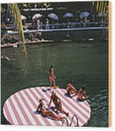 La Concha Beach Club Wood Print