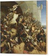 La Defense De L'ile De Rhodes Par Foulques De Villaret Wood Print