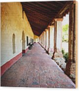 La Purisima Mission Colonade Wood Print