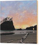 La Push Special Sunset Wood Print