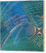 Labyrinth Of Words Wood Print