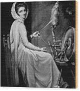 Lady Hamilton As The Spinstress Wood Print