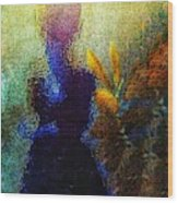 Lady In The Garden Wood Print