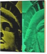 Lady Liberty For All Wood Print