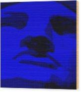 Lady Liberty In Blue Wood Print