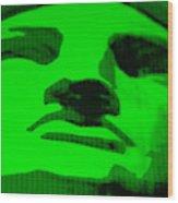 Lady Liberty In Green Wood Print