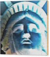 Lady Liberty In Negative Wood Print