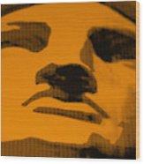 Lady Liberty In Orange Wood Print