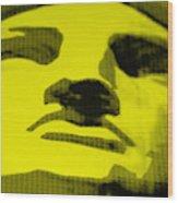 Lady Liberty In Yellow Wood Print