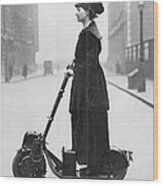 Lady Normans Scooter Wood Print