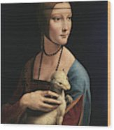 Lady With An Ermine, 1489 Wood Print