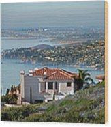 Laguna Beach Hilltop Homes Wood Print