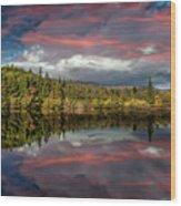 Lake Bodgynydd Sunset Wood Print