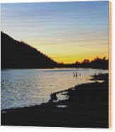 Lake Cuyamaca Sunset Wood Print