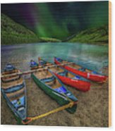 lake Geirionydd Canoes Wood Print