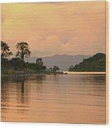 Lake Malawi Sunset Wood Print