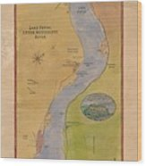 Lake Pepin Wood Print