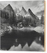Lake Verde In The Alps IIi Wood Print