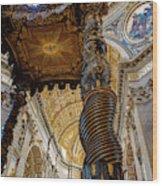 L'altare Di Bernini Wood Print