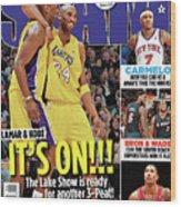 Lamar & Kobe: It's On!!! SLAM Cover Wood Print