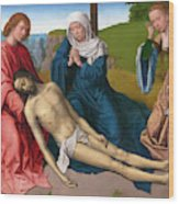 Lamentation Over The Body Of Christ Wood Print