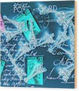 Landmark Love Letter Wood Print