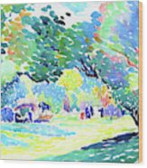 Landscape - Digital Remastered Edition Wood Print