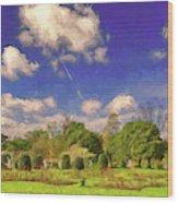 Landscape Gardening Wood Print