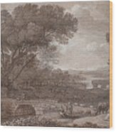Landscape With The Rest On The F  Wood Print