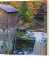Lanterman's Mill In Fall Wood Print