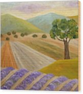 Lavender Sundown Wood Print