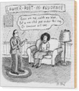 Lawyer Poet In Residence Wood Print