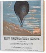 Le Ballon Aeronautical Journal, 1883 French Poster Wood Print