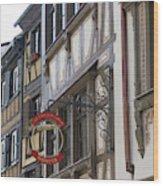 Le Tire Bouchon Winstub Sign Wood Print