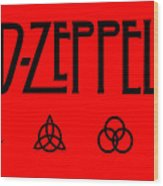 Led Zeppelin Z O S O - Transparent T-shirt Background Wood Print