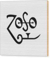 Led Zeppeling Z O S O - T-shirts Wood Print